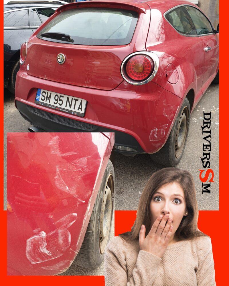 Audi cautat pe Facebook ! A facut accident, apoi a plecat de la locul faptei (Foto)
