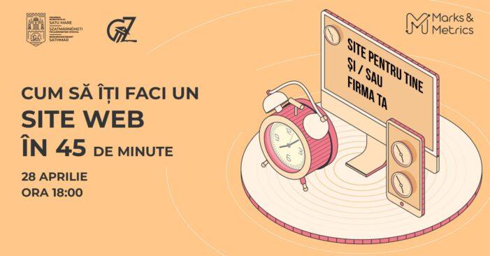 Cum să îți faci un site web în 45 de minute ?