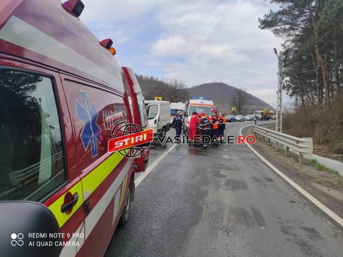 Sofer din Satu Mare, implicat intr-un accident in Maramures. Victima, la Urgente (Foto)