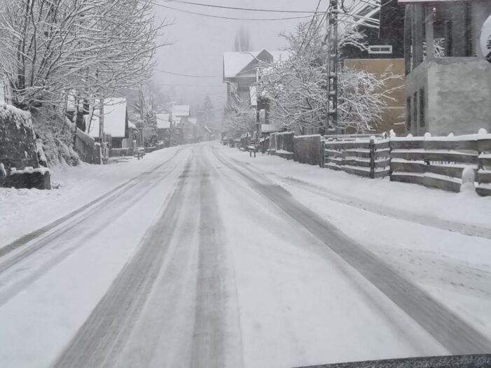 Iarna nu se lasa dusa. A nins la Borsa (Foto&video)
