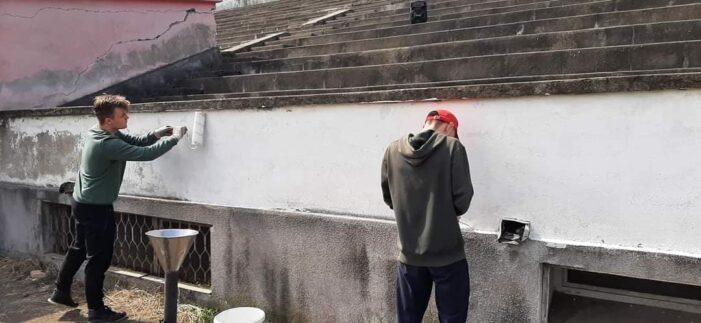 """Stadionul """"Somesul"""", pregătit pentru noul campionat (Foto)"""