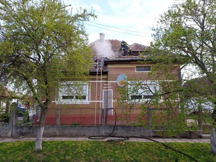 Inca un incendiu … De aceasta data in Terebesti (Foto)