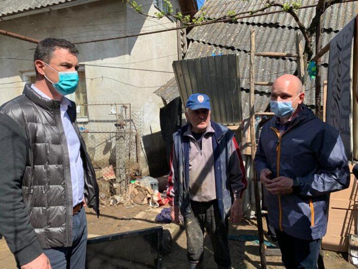Ministrul Mediului în judetul Satu Mare. Se evalueaza pagubele produse de inundatii (Foto)