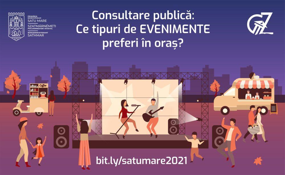 Consultare publică: Ce evenimente preferi în municipiul Satu Mare ?