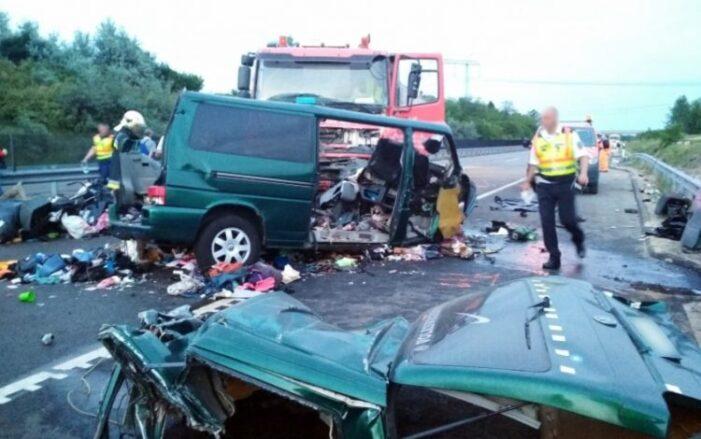 Accident grav. Duba cu romani, implicata într-un accident în Ungaria (Foto & video)