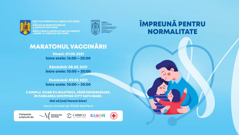 Maraton de vaccinare la Shopping City Satu Mare