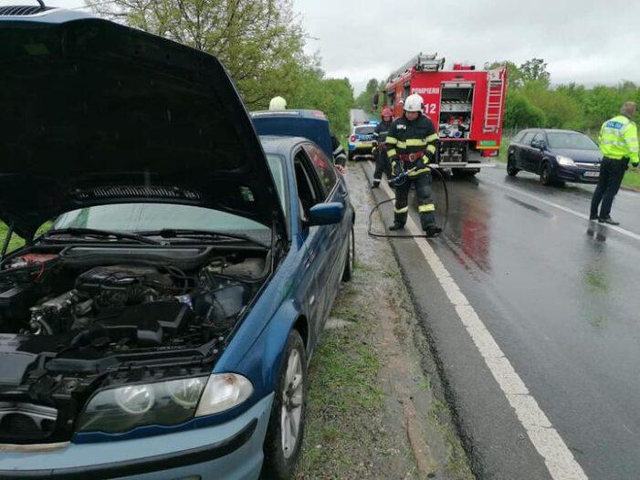Incendiu la o masina în Negrești-Oaș (Foto)