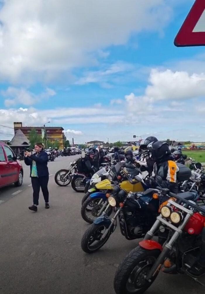 Marș cu sute de motociclisti în judet (Foto)
