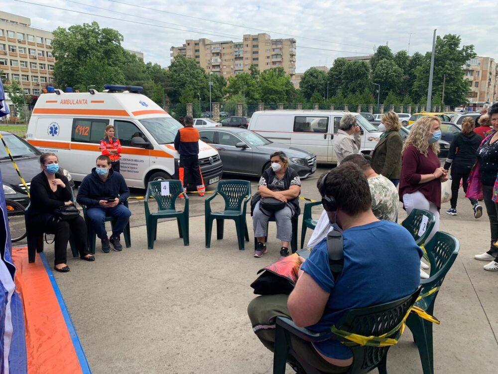 Start la vaccinare, in Piața Someș (Foto)
