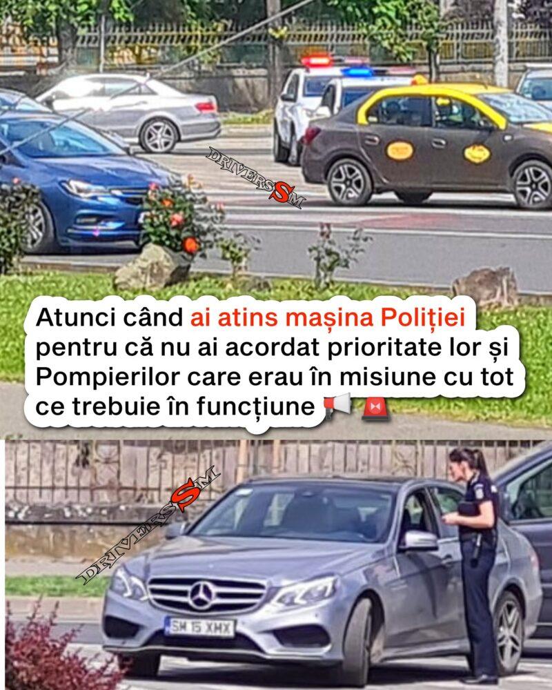 Grabit tare de tot, a lovit masina Politiei ! ce a patit dupa … ? (Foto)