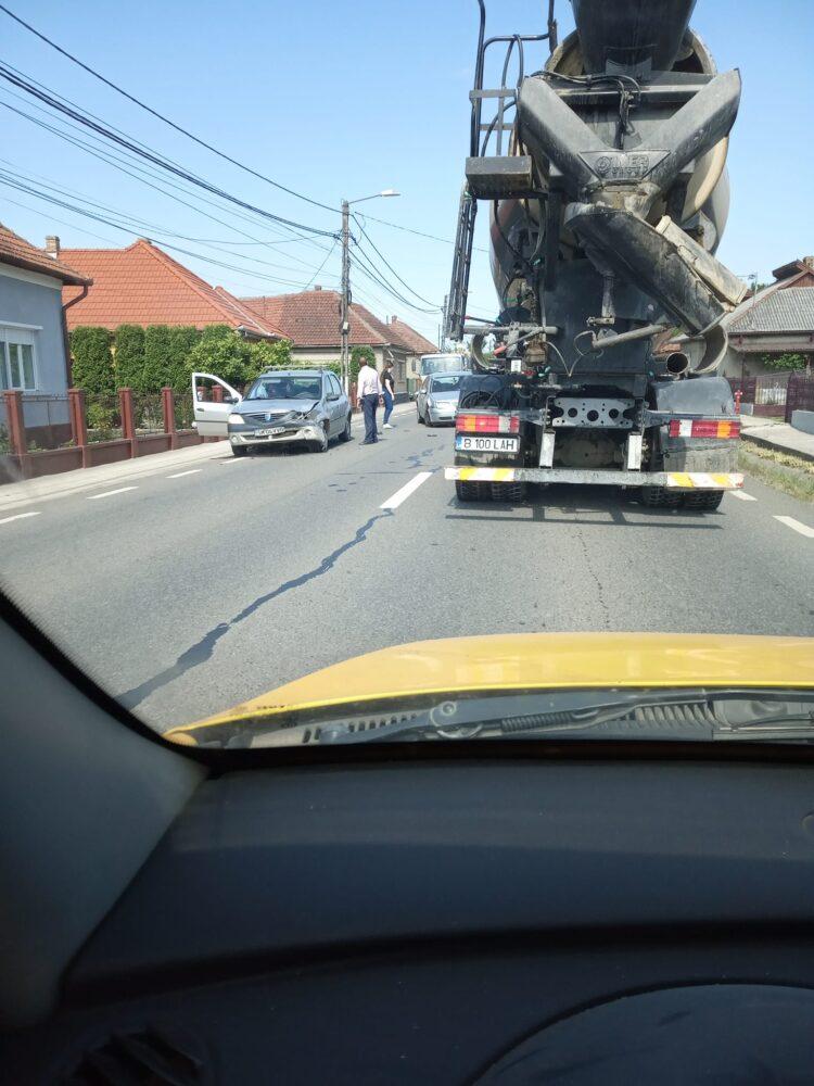 Accident in Seini. O masina din Satu Mare, implicata (Foto)