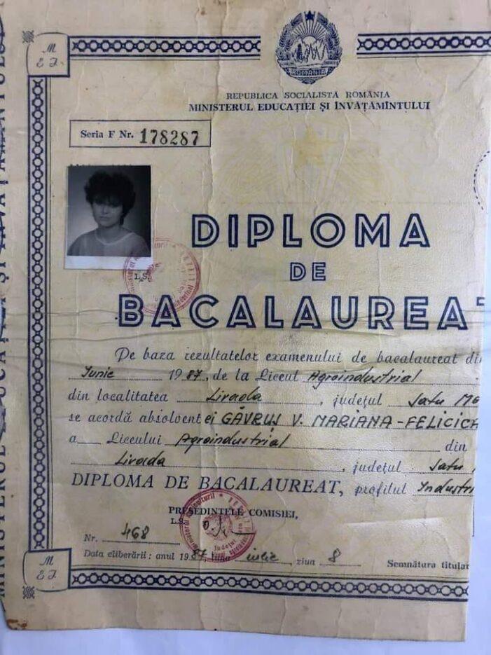 Diploma de Bac, găsită pe strada (Foto)