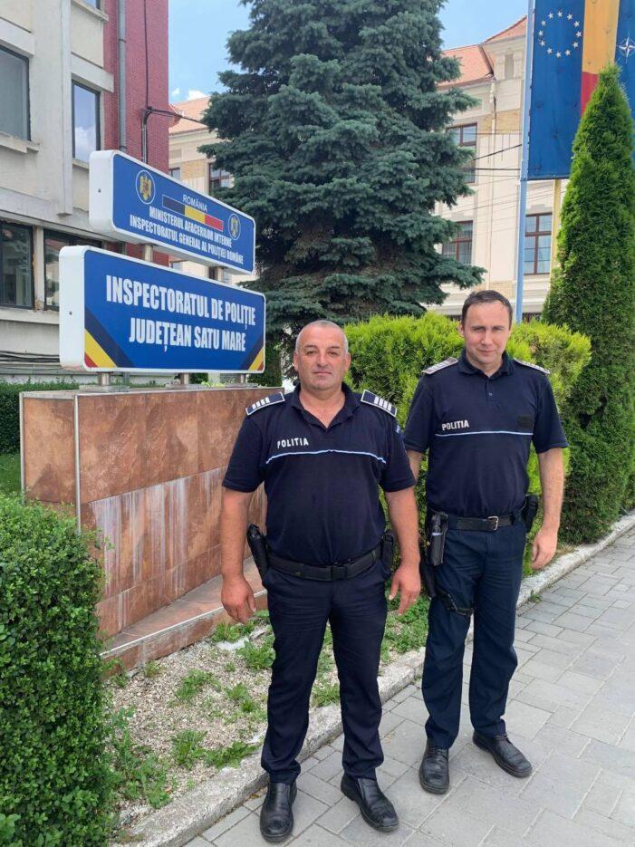 Satmarenii Antal si Daniel, felicitati de Politia Romana. Au salvat un om (Foto)