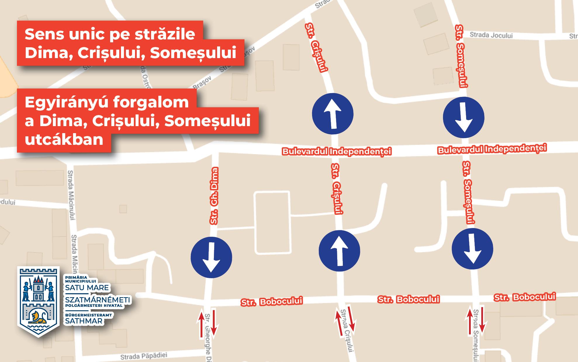 Sensuri unice pe mai multe străzi din Satu Mare