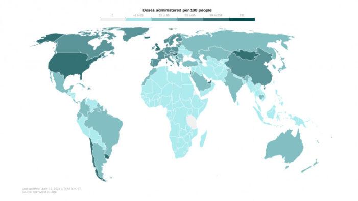 Doar 10% din populația lumii a fost vaccinată complet împotriva COVID-19