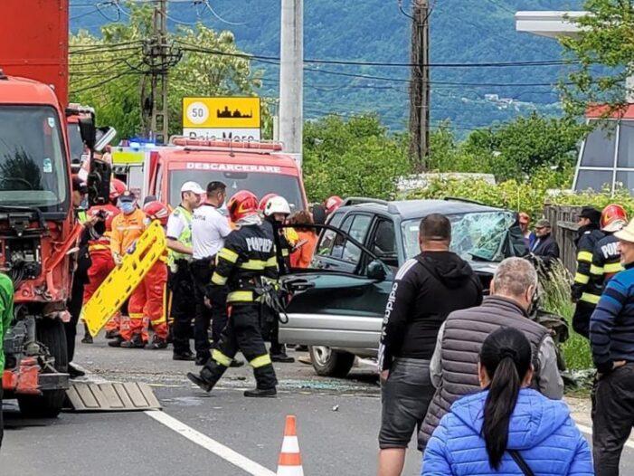 Imagini video de la accidentul cu TIR-ul din Satu Mare (VIDEO)