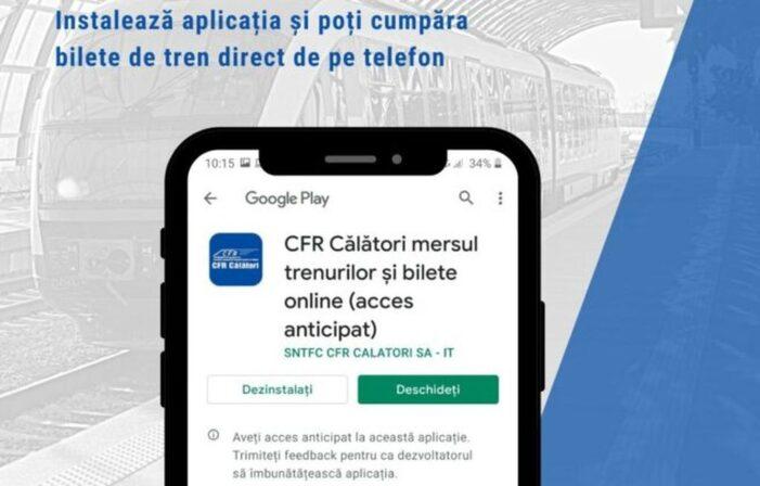 CFR Călători lansează o aplicație mobilă pentru achiziția de bilete de tren