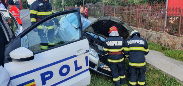 Accident la Ciuperceni. Victima s-a autoevacuat (Foto)