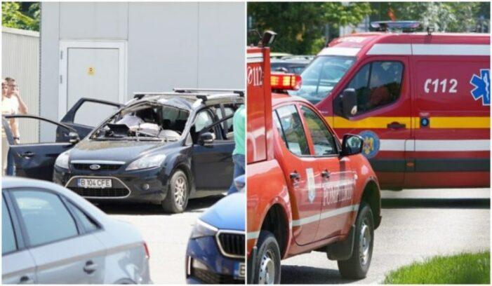 O masina a explodat intr-o benzinarie ! O persoana a murit ! (Foto)