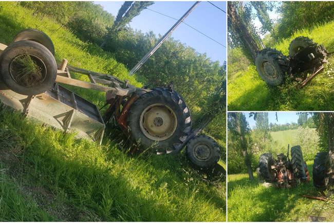 Un tanar de 21 de ani a murit dupa ce s-a rasturnat cu tractorul (Foto)
