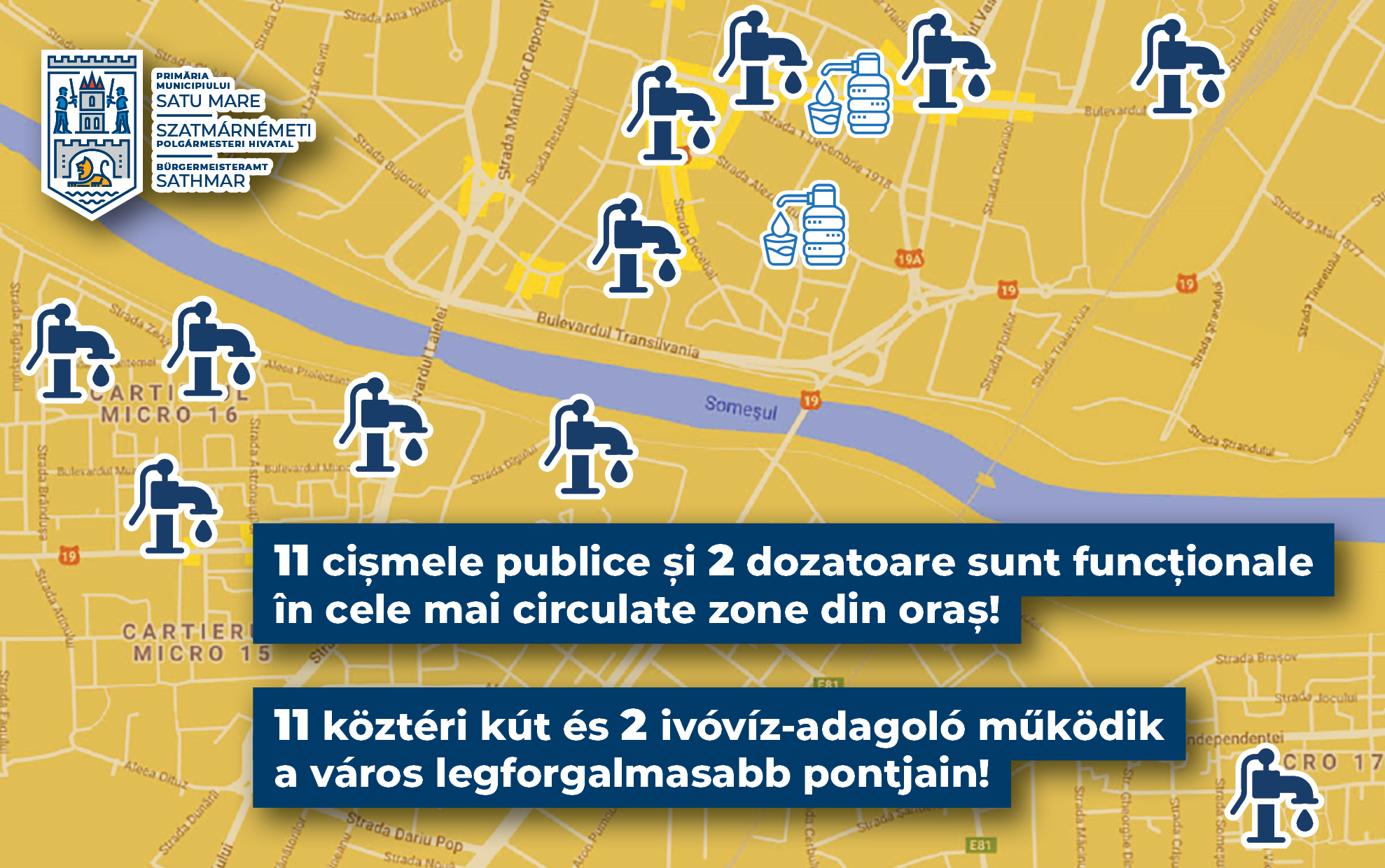 Locuri unde va puteti racori ! Harta cismelelor din Satu Mare ! (Foto)