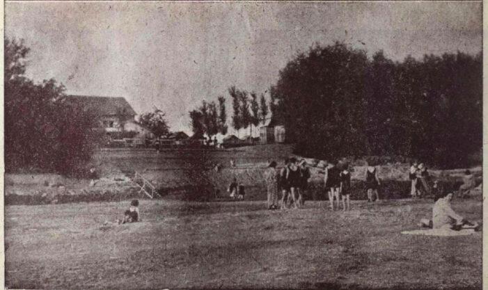 Așa arata strandul de pe malul Somesului, în 1923 (Foto)