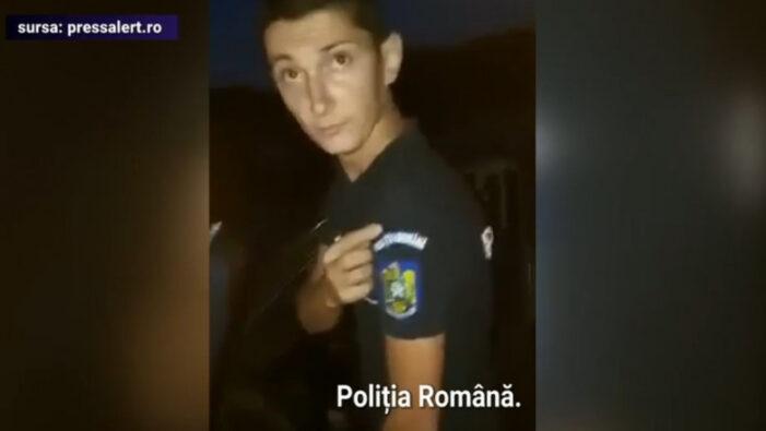 Fals polițist, prins după ce a fost filmat de un grup de tineri