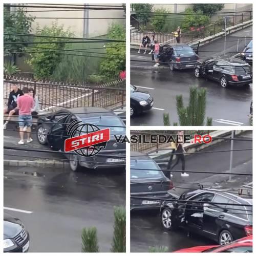 Masina cu numere de Satu Mare implicata intr-un accident in Baia Mare (Video)