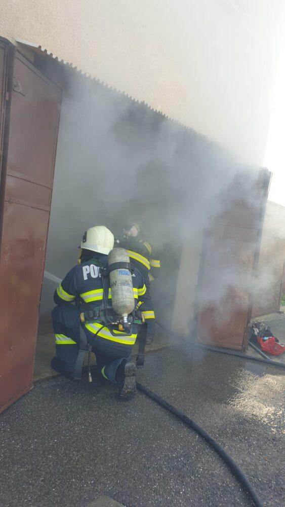 O anexa a luat foc in municipiu
