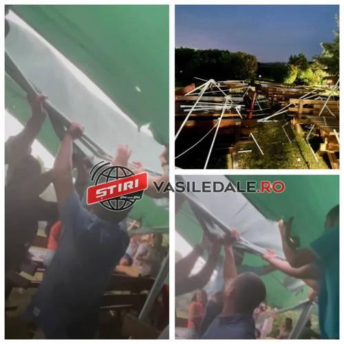 Furtuna le-a luat corturile (Foto&video)