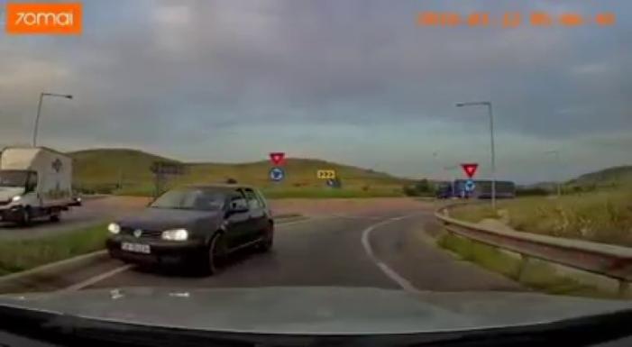 Șofer din Satu Mare surprins pe contrasens pe Autostrada Transilvania (Foto)