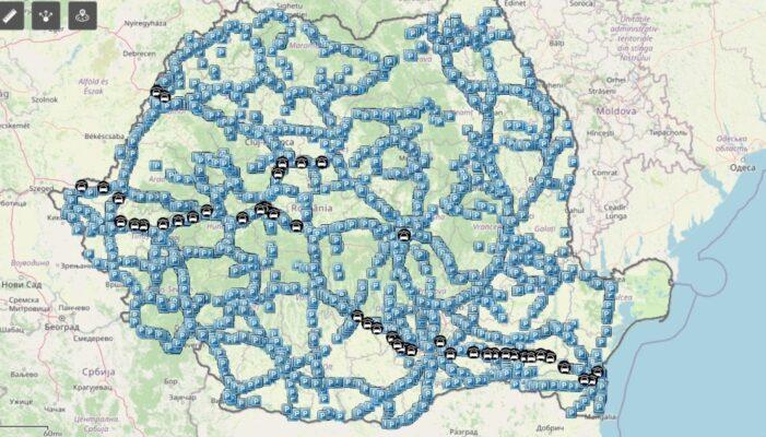 Harta: Aplicație cu spațiile de parcare