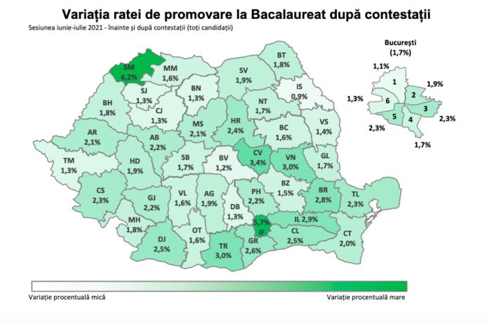 Judetul Satu Mare are cea mai mare creștere a ratei de promovare la Bac, după contestatii