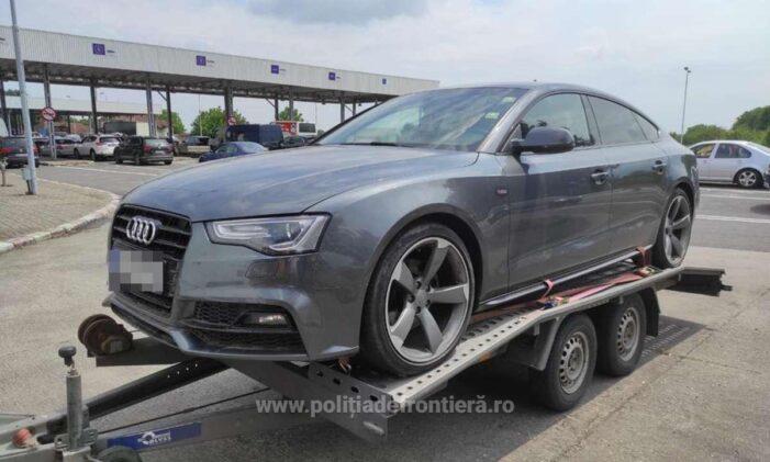 Audi A5 furat din Germania, indisponibilizat la Petea (Foto)