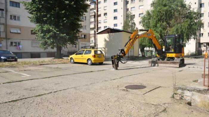 Primăria Satu Mare a început lucrările de modernizare a parcărilor
