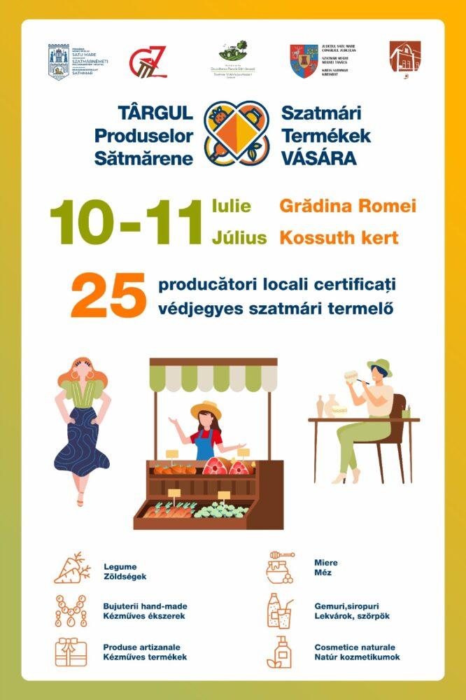 Târgul Produselor Satmarene, în acest week-end, în Grădina Romei