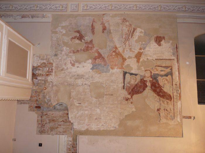 Peinture murale de l'église de Berea, la seule fresque médiévale du comté de Satu Mare