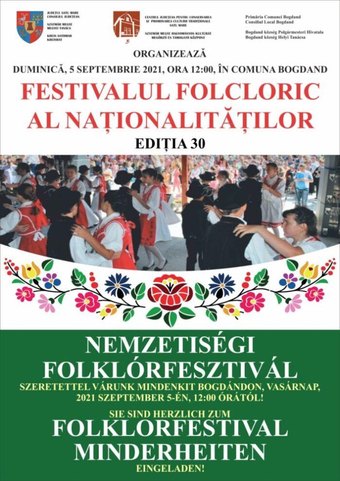Festivalul Folcloric al Naţionalităţilor de la Bogdand – ediția 30