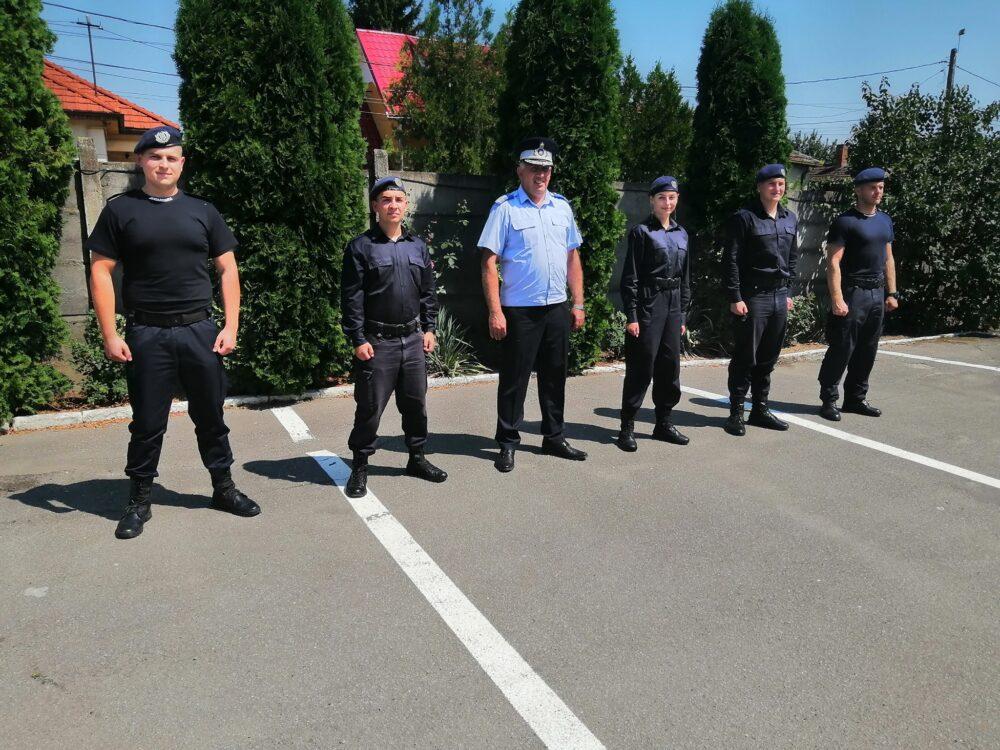 Cinci elevi in practica la Jandarmeria Satu Mare (Foto)