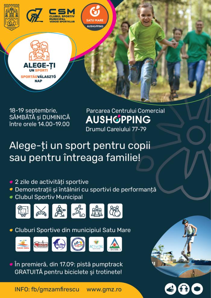 """În acest week-end: """"Alege-ți un sport"""", eveniment dedicat familiilor și copiilor"""