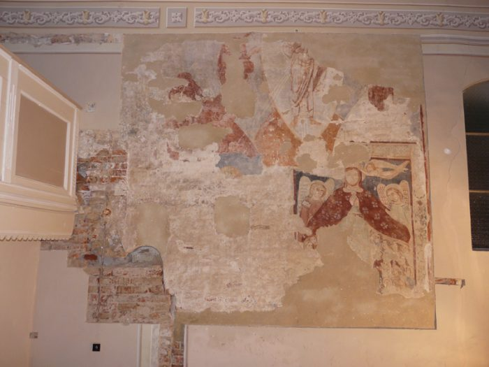 Mural painting from the church from Berea, the only medieval fresco in Satu Mare County