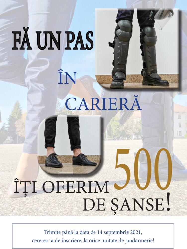 500 de locuri scoase la concurs în instituțiile de învățământ ale Jandarmeriei