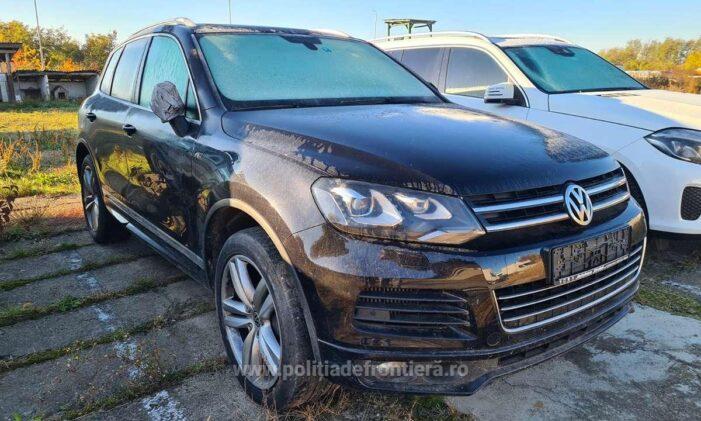 Volkswagen Touareg, furat din Germania, descoperit la Petea (Foto)