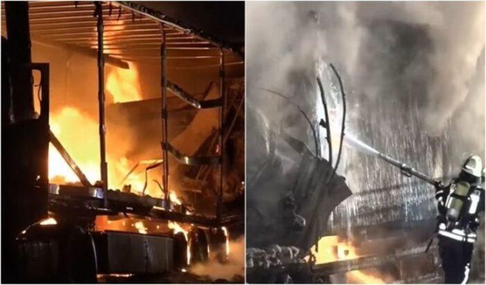 Accident in Germania ! Un şofer român de TIR a ars de viu în cabină !